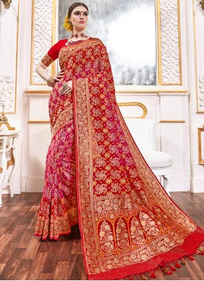 Multi Colour Viscose Classic Saree