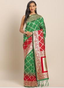 Multi Colour Weaving Art Banarasi Silk Saree