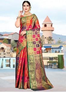 Multi Colour Weaving Art Silk Classic Designer Saree