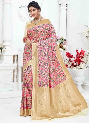 Multi Colour Weaving Art Silk Classic Saree