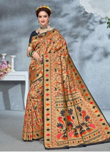 Multi Colour Weaving Art Silk Saree