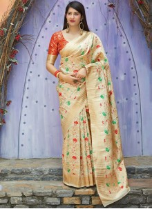 Multi Colour Weaving Art Silk Traditional Designer Saree