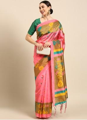 Multi Colour Weaving Art Silk Trendy Saree
