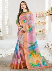 Multi Colour Weaving Casual Saree