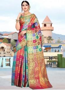 Multi Colour Weaving Classic Designer Saree