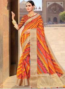 Multi Colour Weaving Fancy Fabric Traditional Designer Saree