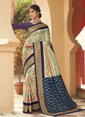 Multi Colour Weaving Festival Traditional Designer Saree