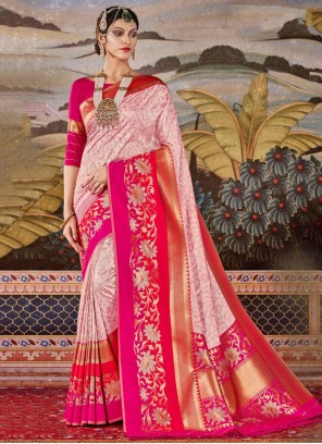 Multi Colour Weaving Party Traditional Saree