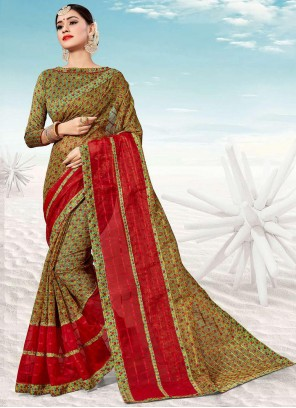 Multi Colour Weaving Party Trendy Saree