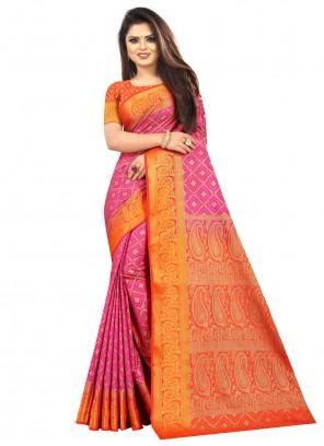 Multi Colour Weaving Traditional Saree