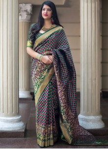 Multi Colour Wedding Art Silk Traditional Designer Saree