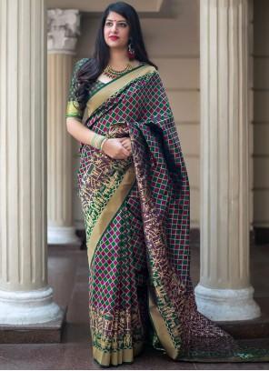 Multi Colour Wedding Art Silk Traditional Designer Saree