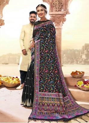 Multi Colour Wedding Banarasi Silk Classic Saree
