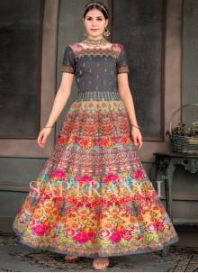 Multi Colour Wedding Designer Gown