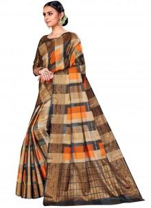 Multi Colour Woven Silk Saree