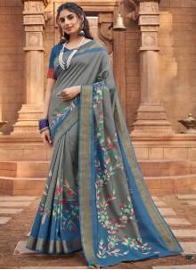 Multi Colour Woven Silk Traditional Saree