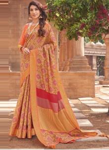 Multi Colour Woven Traditional Saree
