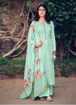 Muslin Digital Print Designer Pakistani Suit