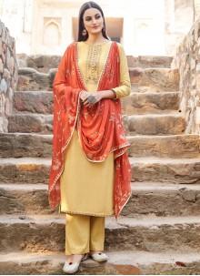Muslin Embroidered Designer Saree