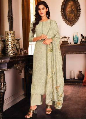 Muslin Embroidered Multi Colour Designer Palazzo Salwar Kameez