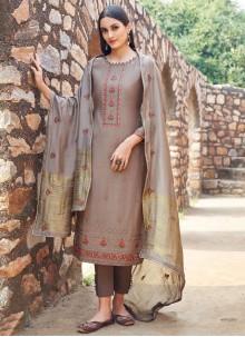 Muslin Embroidered Trendy Salwar Suit