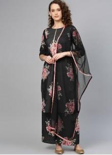 Muslin Foil print Designer Palazzo Salwar Suit
