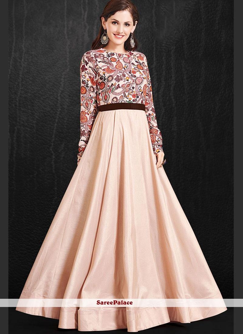 Muslin Print Readymade Gown