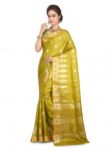 Mustard Art Banarasi Silk Designer Traditional Saree