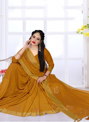 Mustard Bollywood Saree