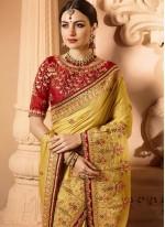 Mustard Bridal Designer Saree