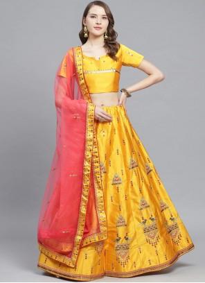 Mustard Ceremonial Bollywood Lehenga Choli