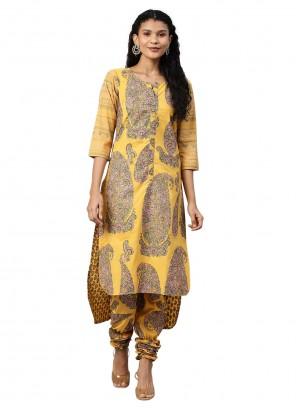 Mustard Churidar Salwar Suit