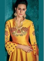 Mustard Color Anarkali Salwar Kameez