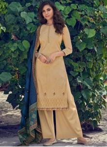 Mustard Color Designer Pakistani Salwar Suit