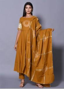 Mustard Color Salwar Suit