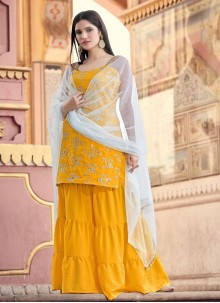 Mustard Fancy Ceremonial Designer Pakistani Salwar Suit