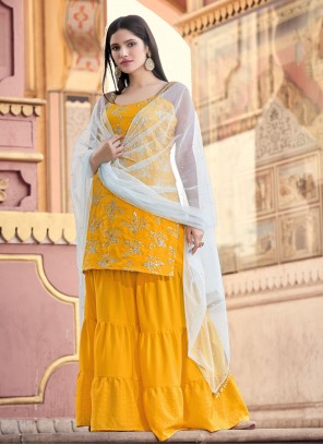 Mustard Fancy Ceremonial Designer Pakistani Salwar Suit