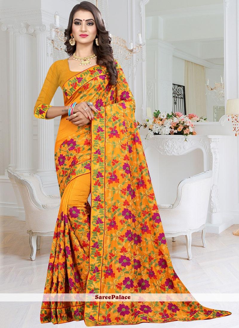 Mustard Festival Fancy Fabric Traditional Designer Saree