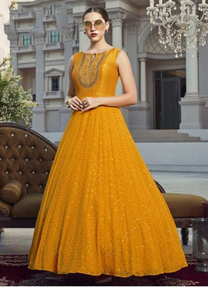 Mustard Festival Readymade Gown