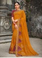 Mustard Georgette Traditional Designer Saree