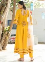 Mustard Party Designer Salwar Kameez