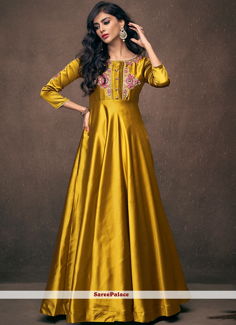 Mustard Party Readymade Gown
