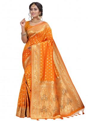 Mustard Silk Fancy Designer Traditional Saree
