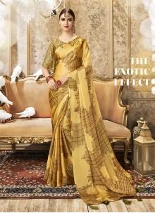 Mustard Traditional Designer Saree