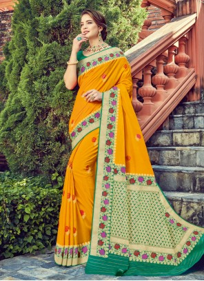 Mustard Trendy Saree