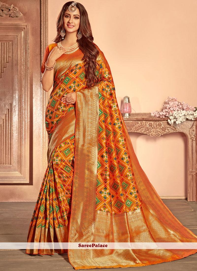 e1621c67939c3 Buy Mustard Weaving Designer Traditional Saree Online