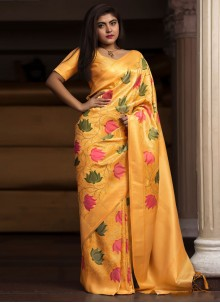 Mustard Wedding Designer Saree
