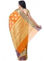 Mustard Zari Classic Designer Saree