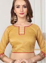 Mustard Zari Trendy Saree