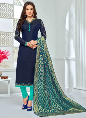 Navy Blue Anarkali Salwar Suit